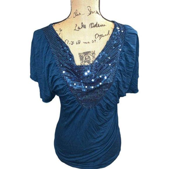 Women's Daytrip royal blue blouse size large